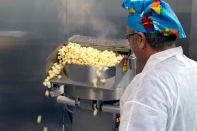 Ah! The fresh popped corn!