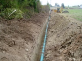 Piping open irrigation ditches