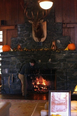Lk Crescent Lodge Fireplace